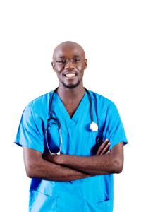 young african american doctor