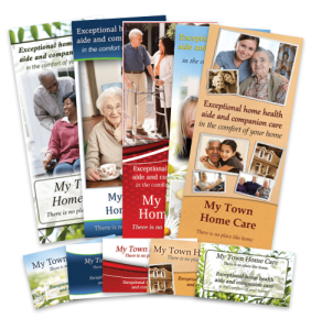 Customized home care brochures and business cards